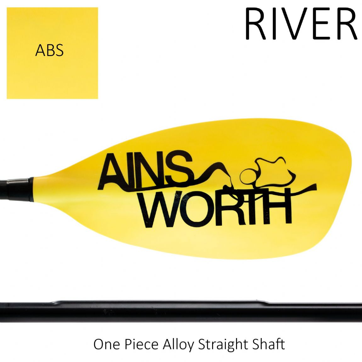 RIVER (ABS Plastic) One Piece Alloy Straight Shaft